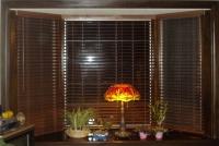 Rèm lá nhựa PVC-05 giá rẻ giả gỗ hiện đại